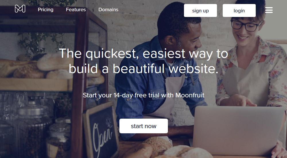 Moonfruit - ātrākais veids kā izveidot bezmaksas mājas lapu