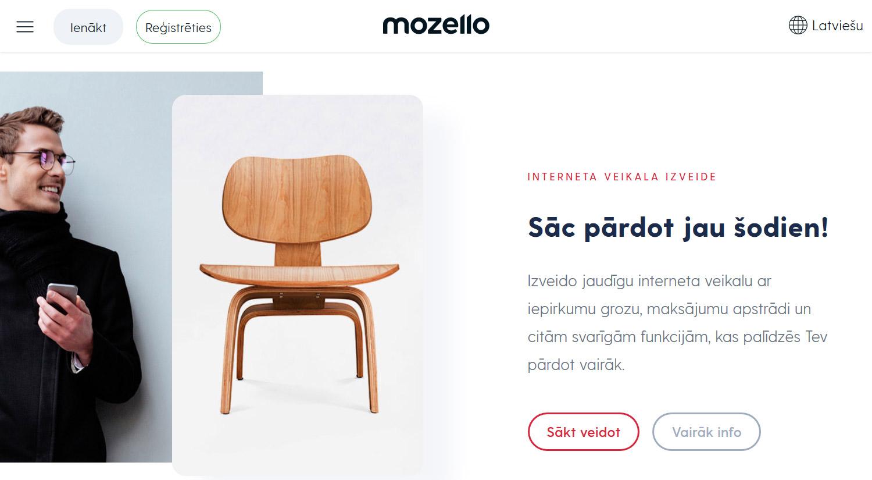 Latvijā radīts mājas lapu konstruktors - Mozello
