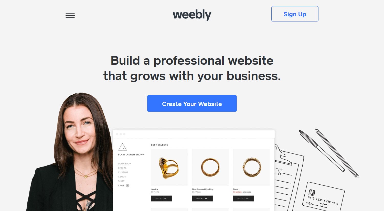 Weebly - profesionāla bezmaksas mājas lapa