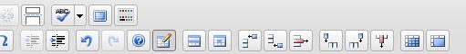 Wordpress TinyMCE ar tabulas rediģēšanas pogām