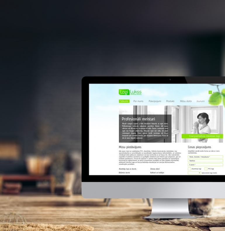 Logi Lukss identitāte, dizains un mājas lapas izstrāde