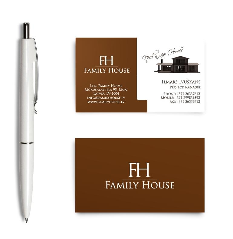 Koka māju Familyhouse mājas lapas dizains un izstrāde