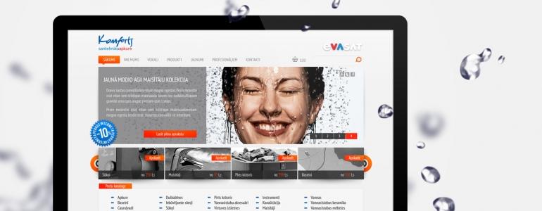 Evasat mājas lapas dizains