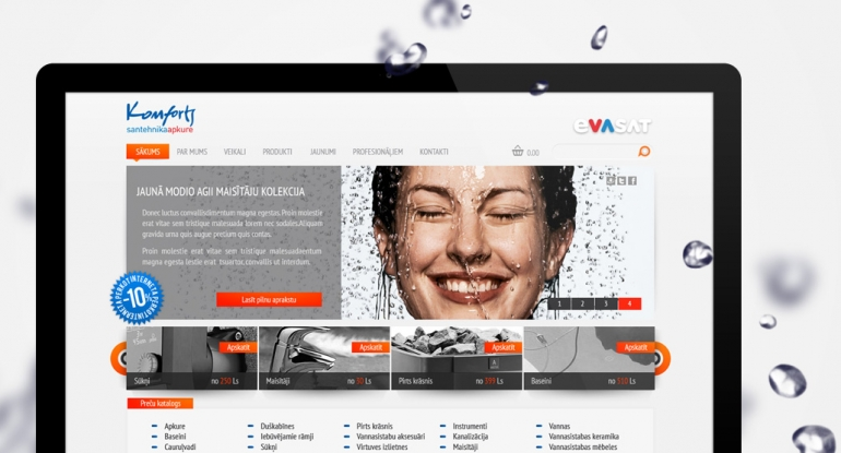 Evasat website design