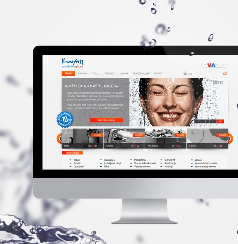 Evasat website design
