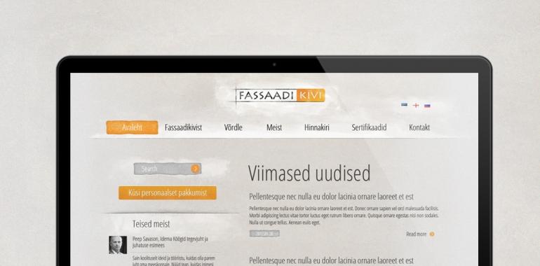 Fassaadi kivi mājas lapas dizains