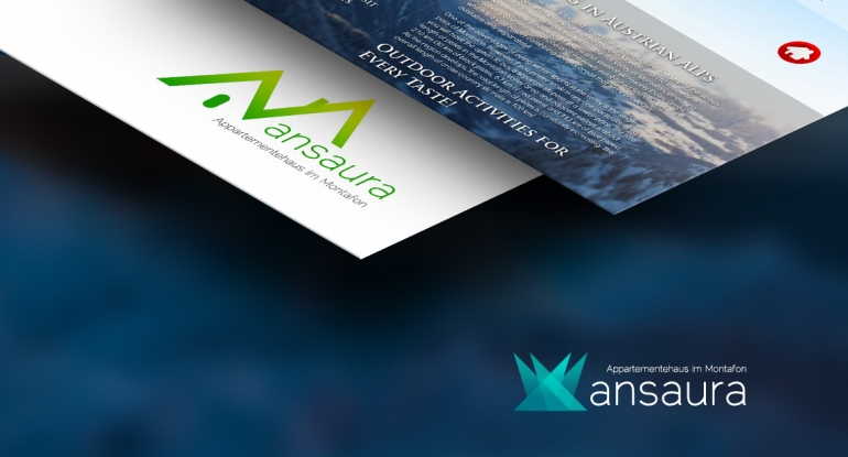 Mansaura identity, website design and development