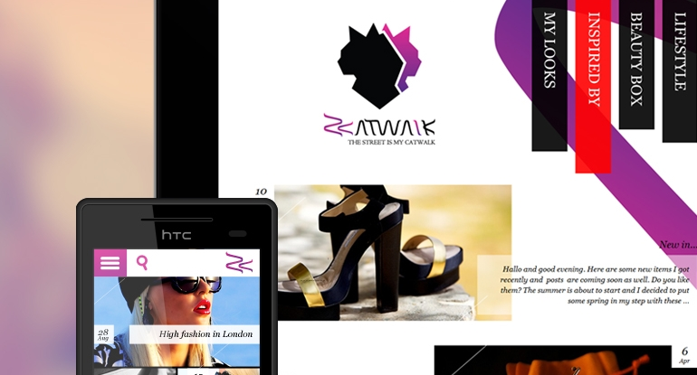 Z-Catwalk identity, website design and development