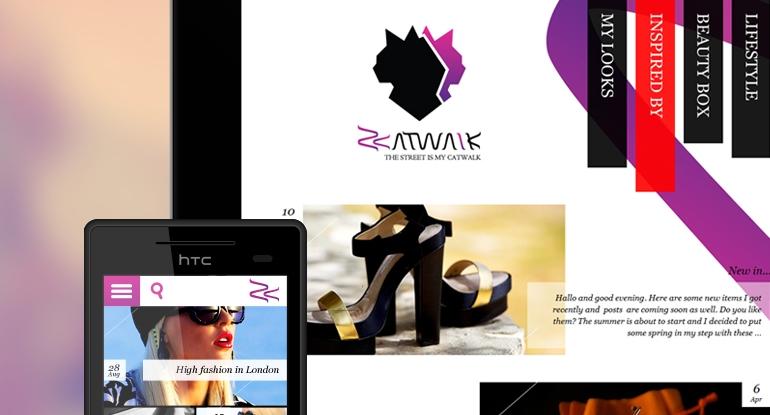 Z-Catwalk identitāte, mājas lapas dizains un izstrāde