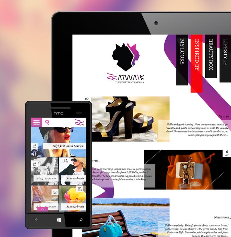 Z-Catwalk identity, website design and development