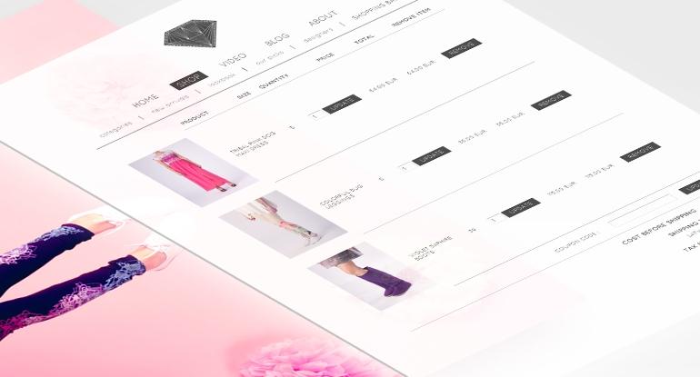 Lips and kiss mājas lapas izstrāde