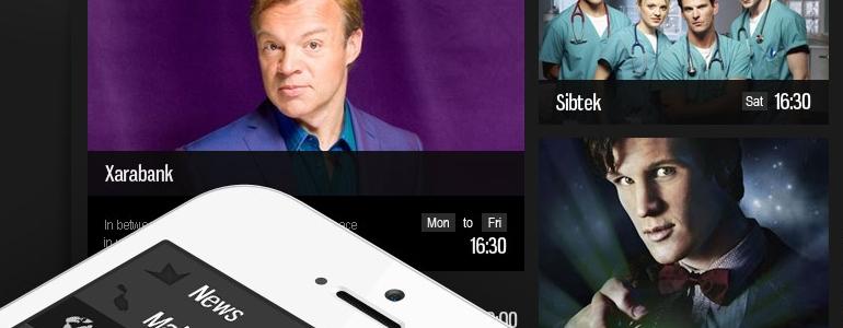 Maltas televīzijas TVM mājas lapas dizaina izstrāde