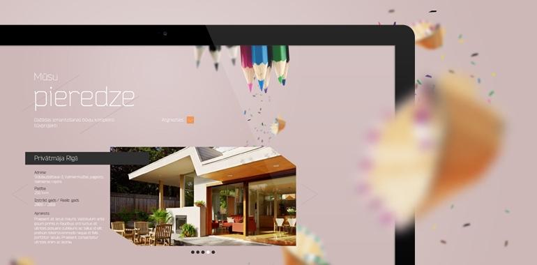 KK arhitekts mājas lapas dizains un izstrāde