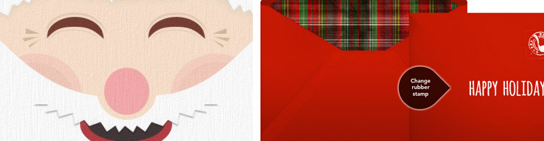 Punchbowl Ziemassvētku apsveikumu kartiņas