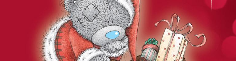Tatty Teddy Ziemassvētku apsveikumu kartiņas
