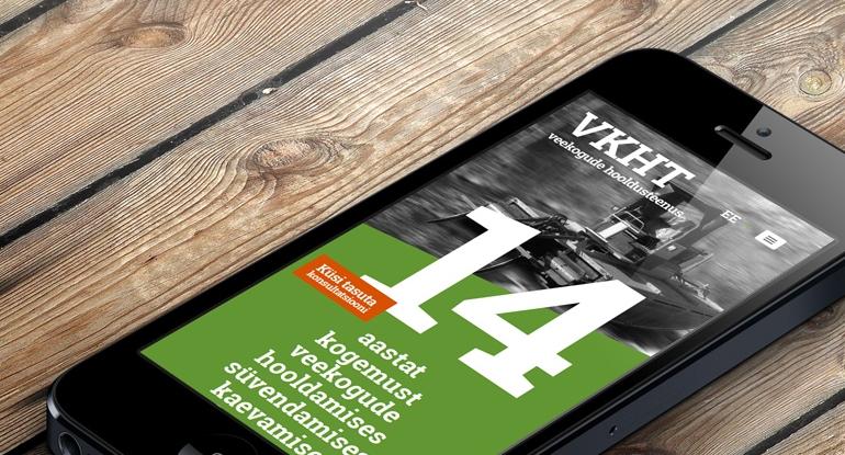 VKHT mājas lapas adaptīvais dizains un izstrāde