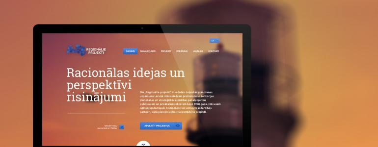 Regionalie projekti design and website development