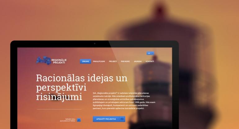 Reģionālie projekti mājas lapas dizains un izstrāde