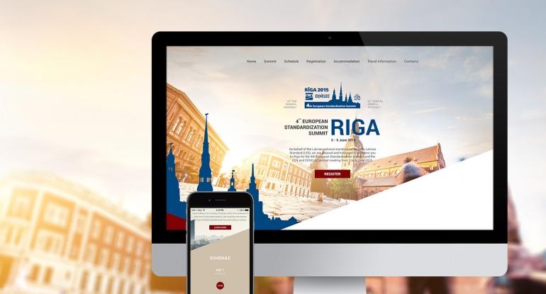 4th European Standardization Summit website design and development