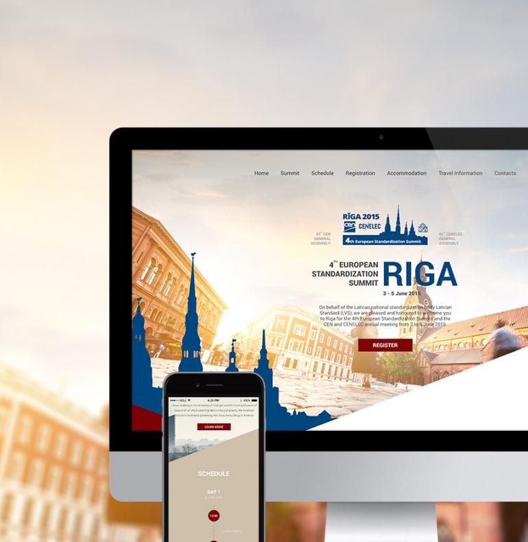 Eiropas Standartizācijas Samita adaptīvās mājas lapas dizains un izstrāde