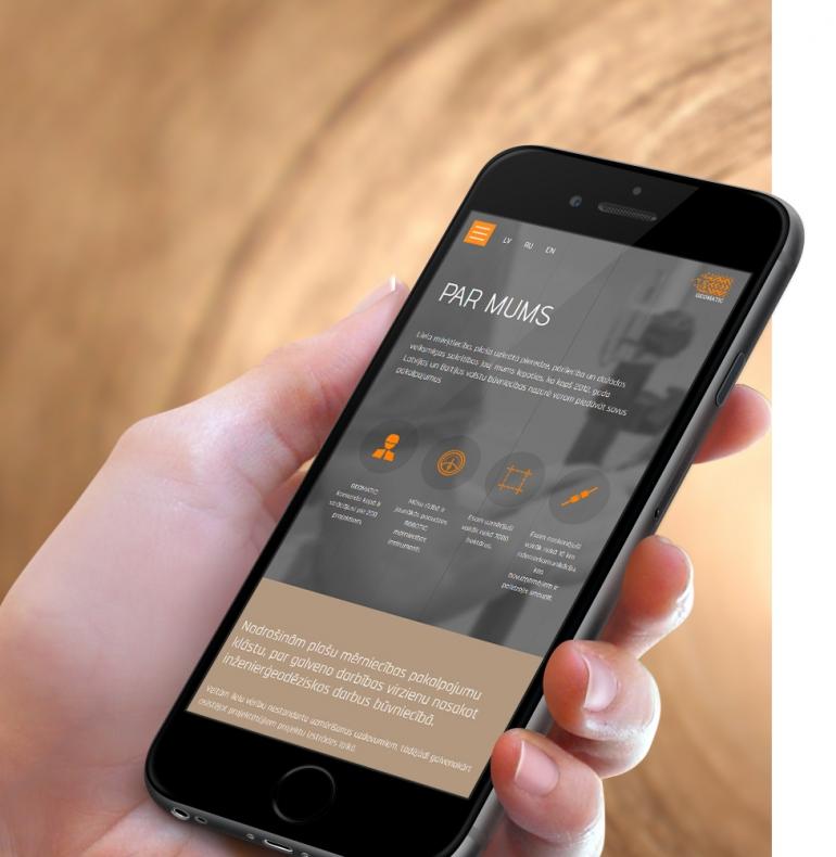 Geomatic – adaptīvās mājas lapas dizains un izstrāde
