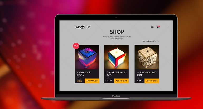 Uniqcube – adaptive e-commerce website store development