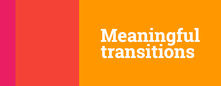 Meaningful transitions tutorial basing on material design motion choreography