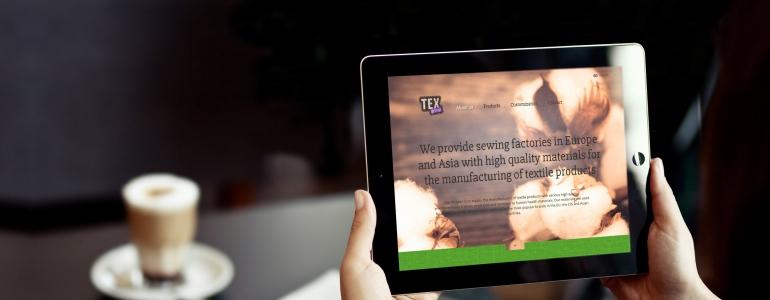 Texbaltic – adaptīvās mājas lapas dizains un izstrāde