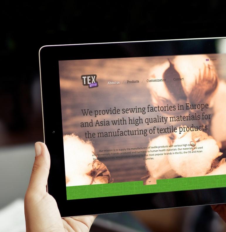 Texbaltic – responsive website design and development