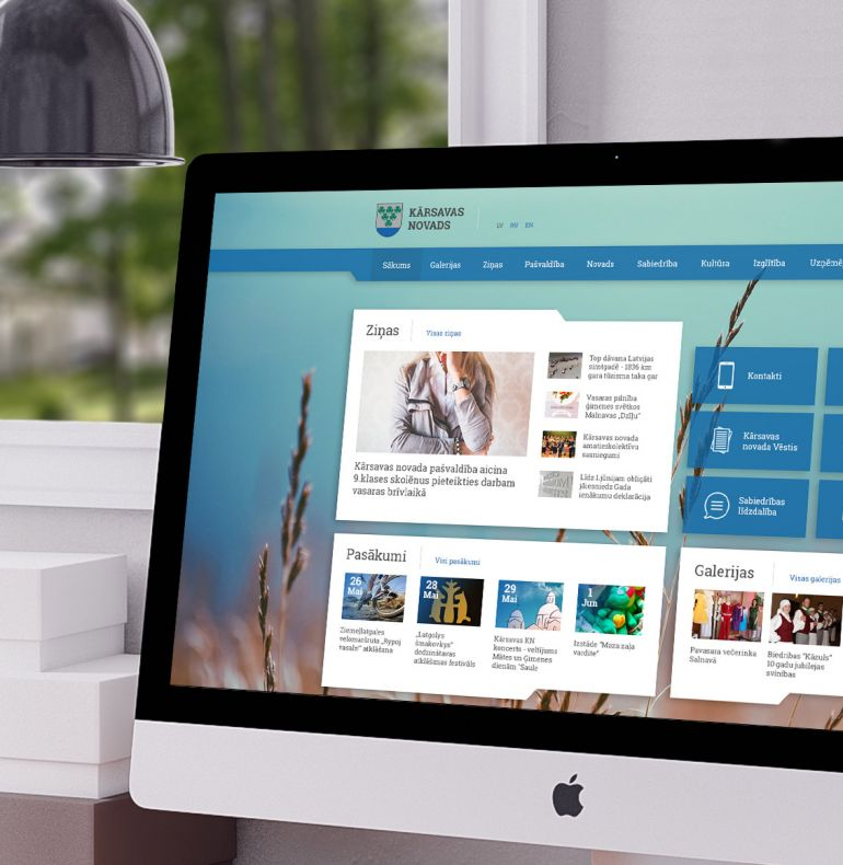 Kārsava municipality responsive website design and development