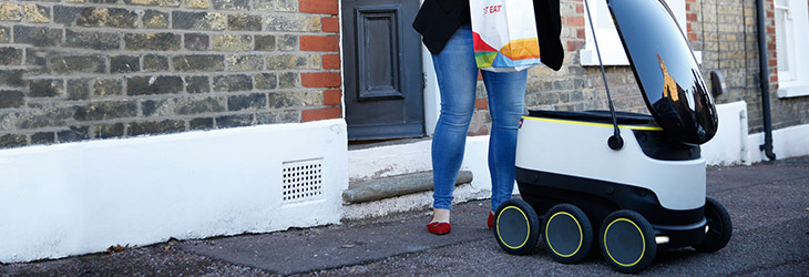 E-commerce trends - Robot food delivery