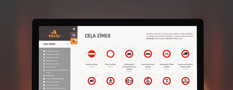 Celazimes.lv e-commerce shop development