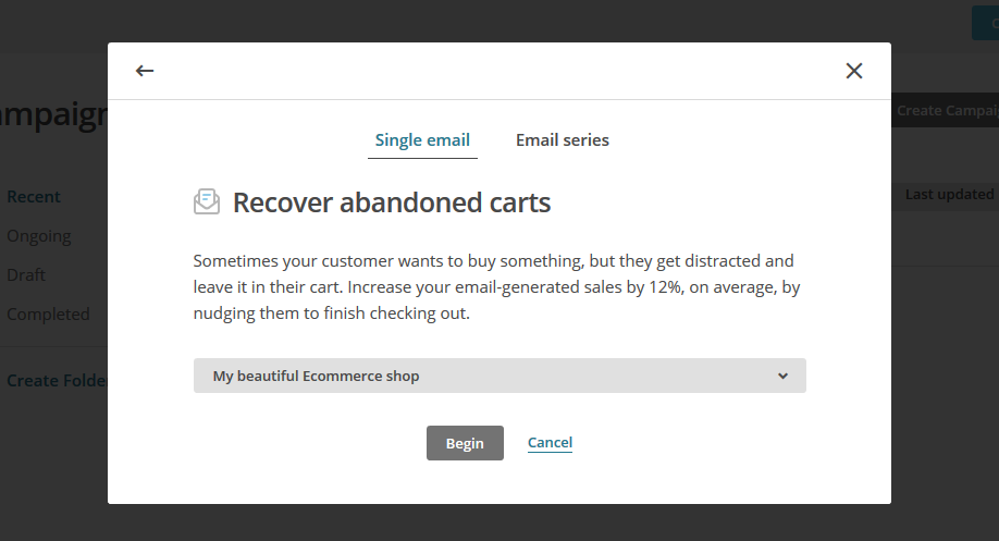 send automated abandoned cart recovery emails from WooCommerce via MailChimp
