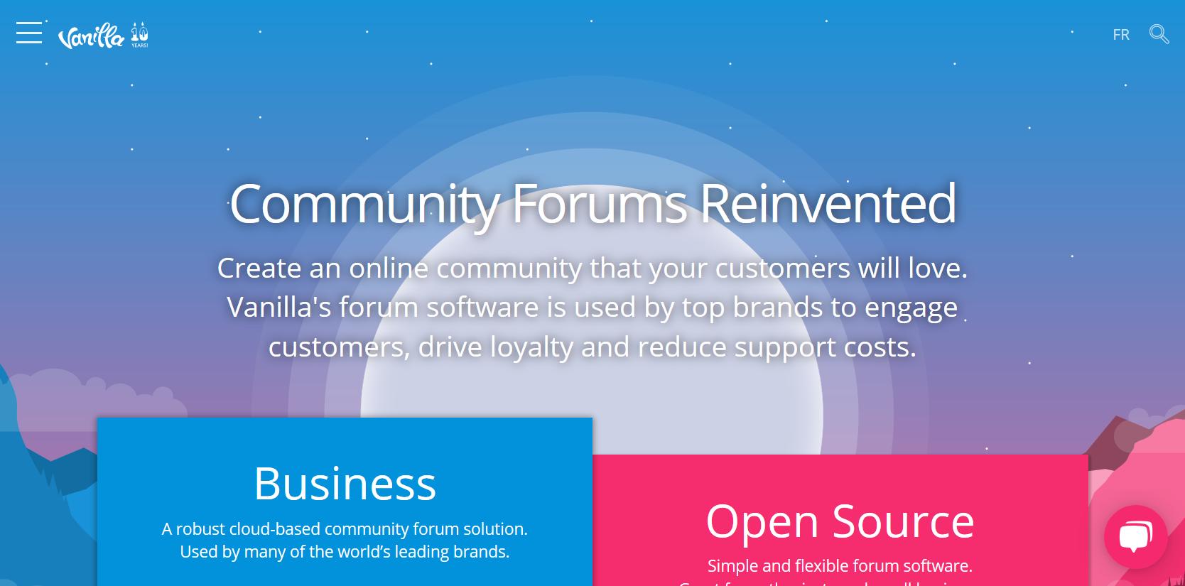 Vanilla forums - izveido bezmaksas forumu
