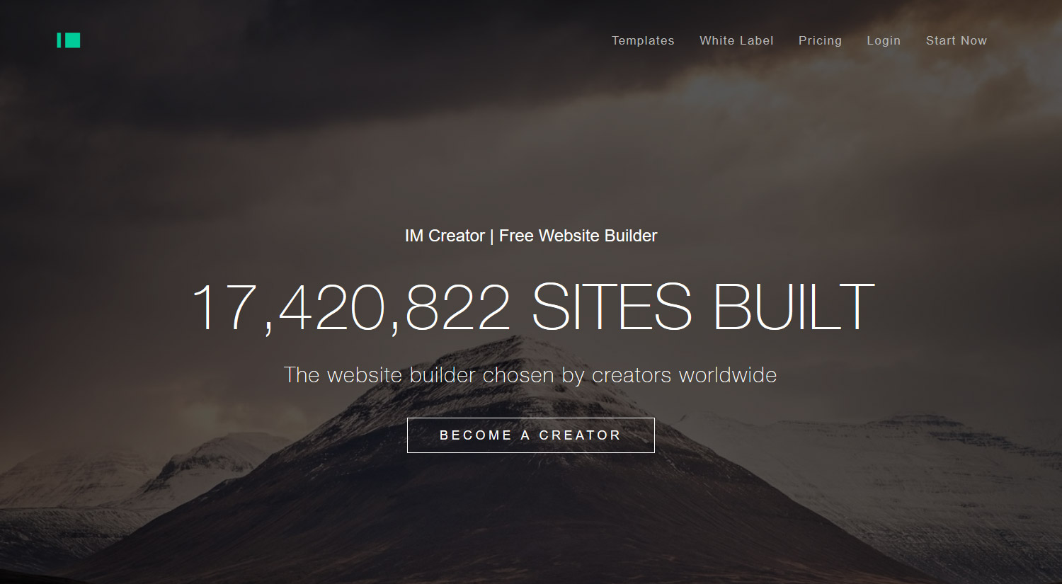 Free website hosting and first level domain name at Imcreator