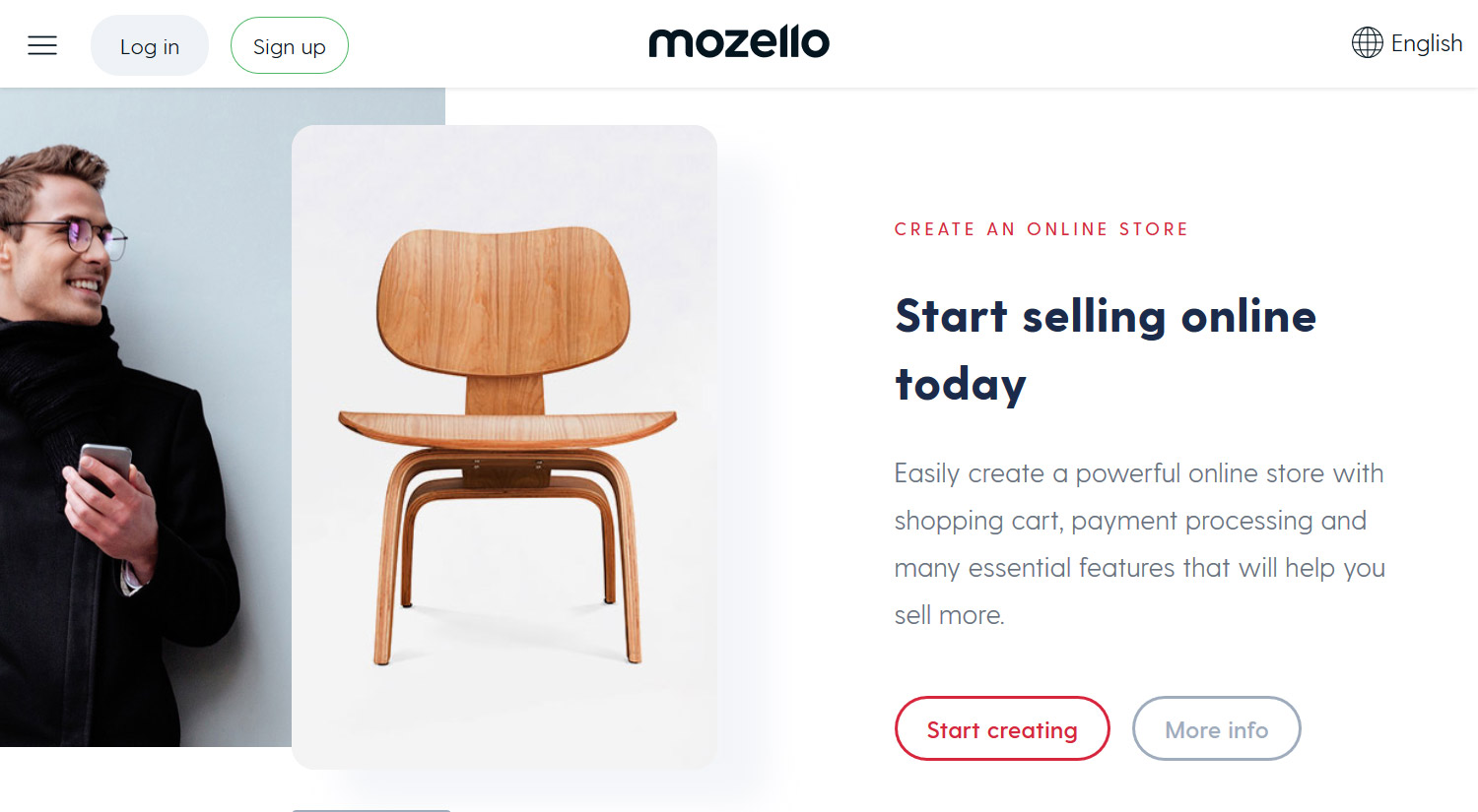 Free online store design and templates with Mozello