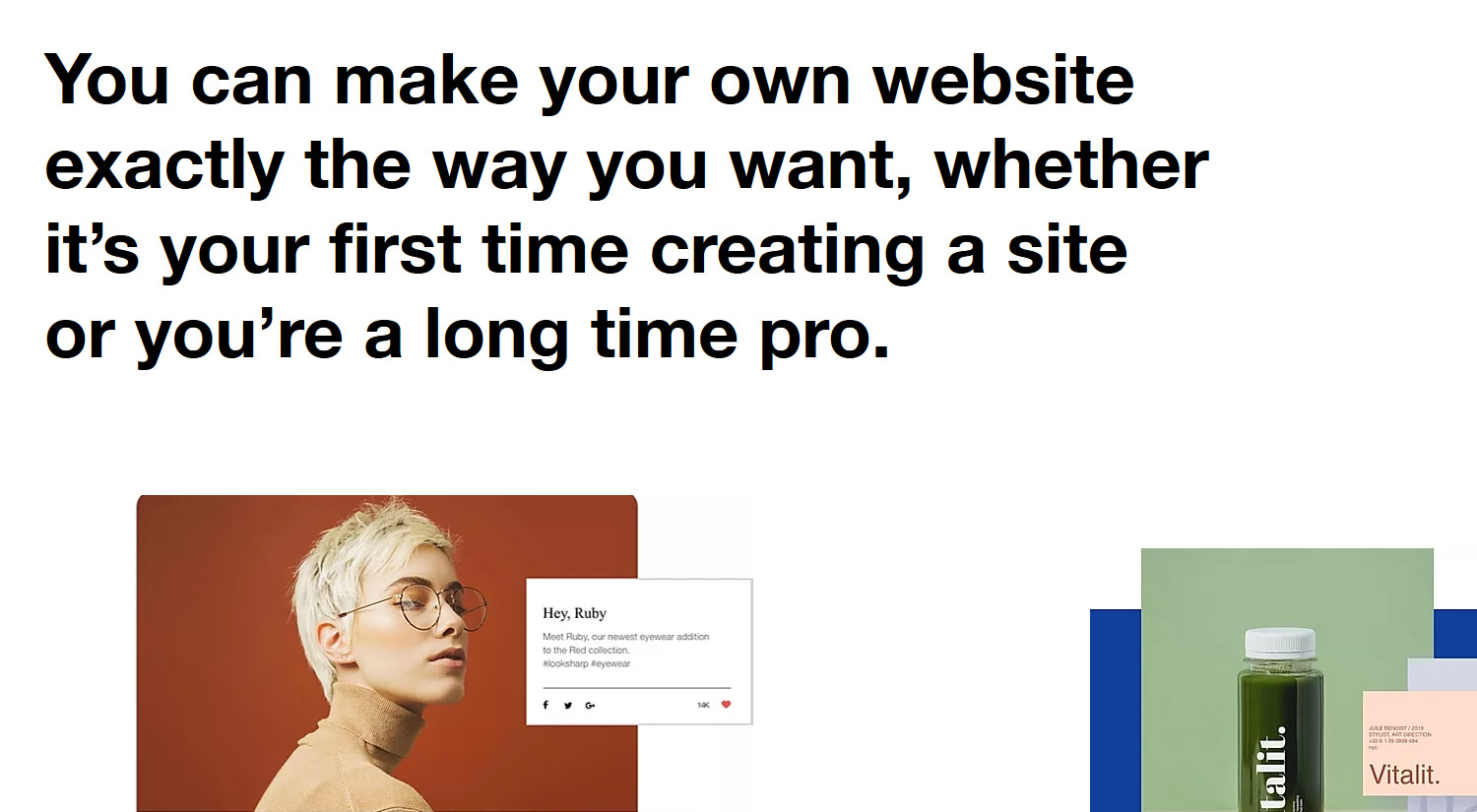 Create your own website with Wix